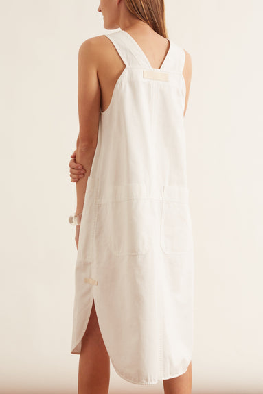 Drill Apron Dress in Natural