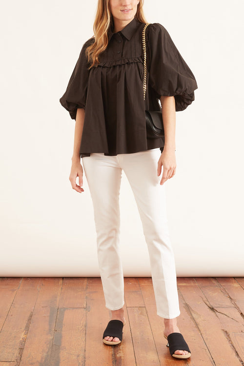 Johannes Smock Top in Black