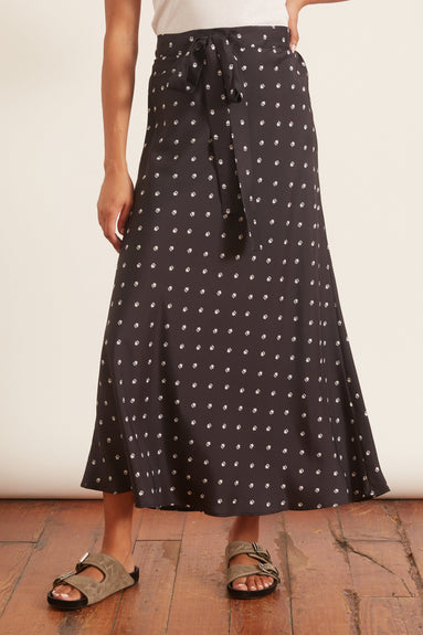 Roxie Maxi Skirt in Dark Floral
