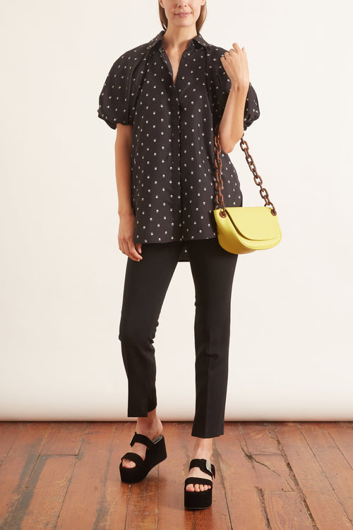 Roxie Puff Sleeve Blouse in Dark Floral