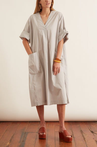 Spliced Tee Dress in Steel