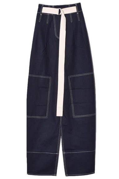 Bonnie Drill Pant in Navy