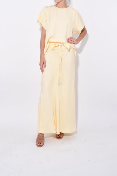 Didion Skirt in Lemon