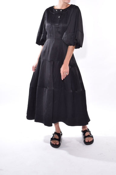 Juliette Lantern Dress in Black