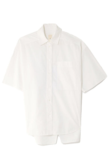 Poplin Short Sleeve Shirt in Natural