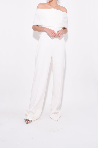Off The Shoulder Jumpsuit in Ivory