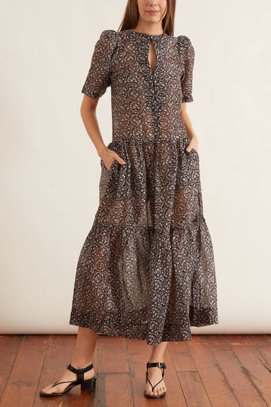 Gigi Dress in Ornament Print