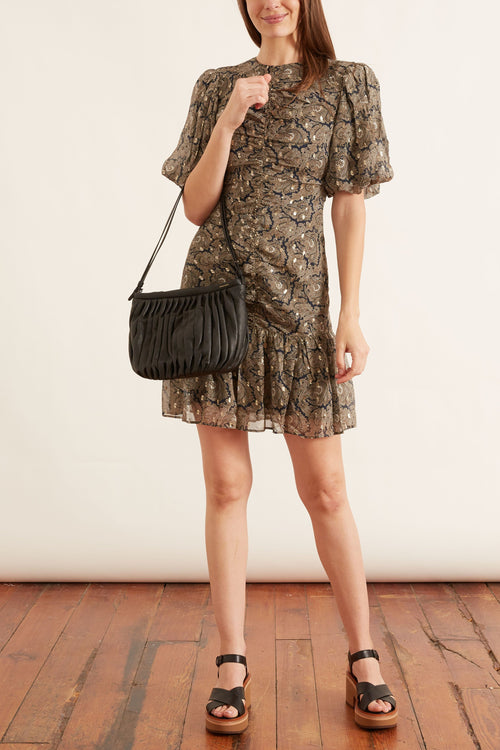 Belle Mini Dress in Festive Summer Paisley