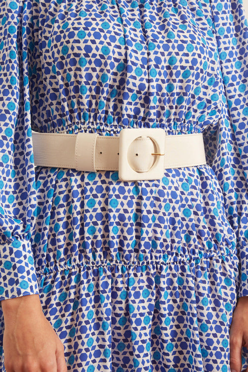 Agnes Belt in Cream Silk