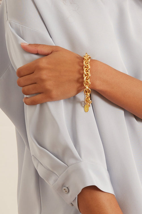 Halo Bracelet in Gold