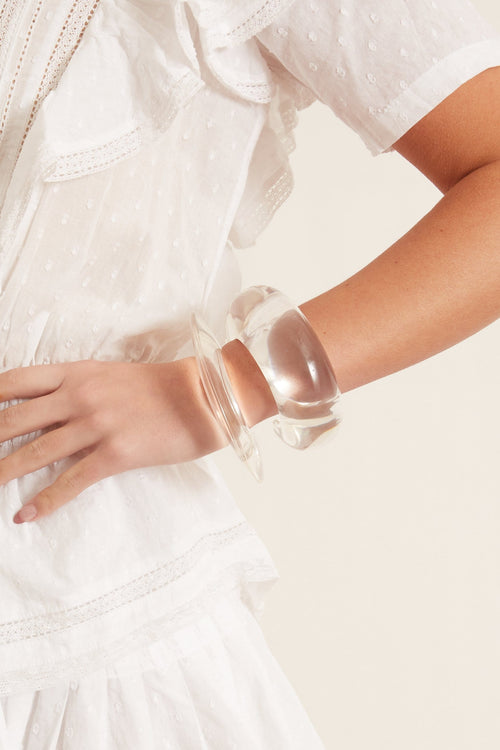 Meridian Cuff in Clear