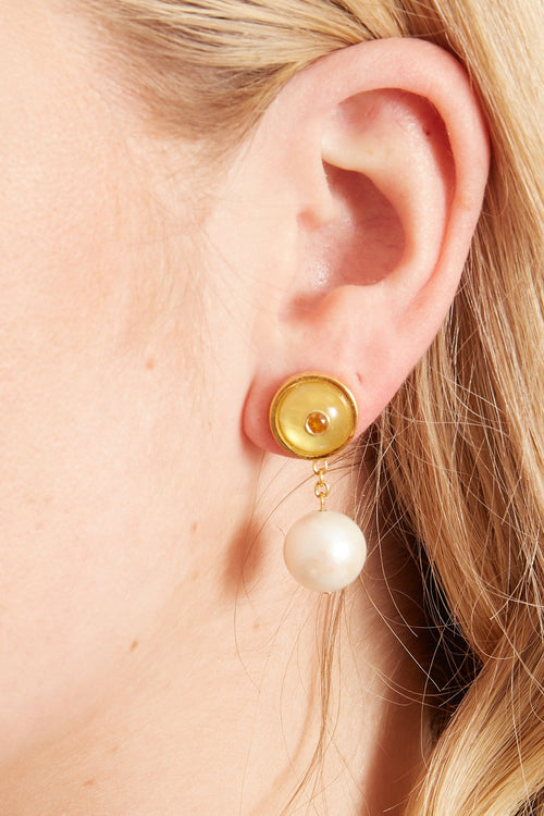 Yolo Earrings in Key Lime