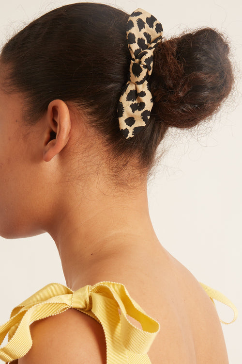 Sadie Bow Barrette in Leopard
