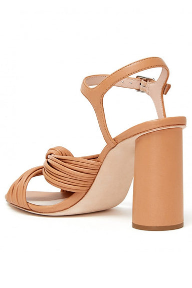 Cece High Heel Knot Ankle Strap Sandal in Dune