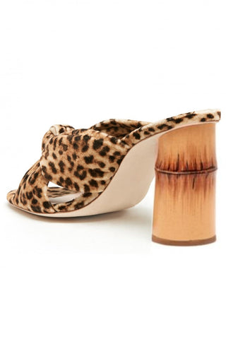 Coco High Heel Knot Slide in Leopard