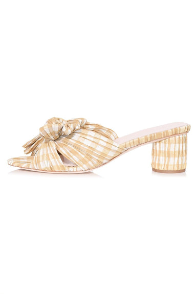 Emilia Pleated Knot Mule in Dijon