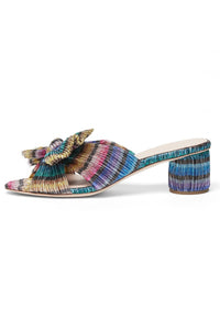 Emilia Pleated Knot Mule in Rainbow