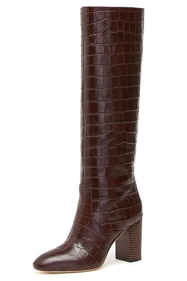 Goldy Tall Boot in Dark Brown