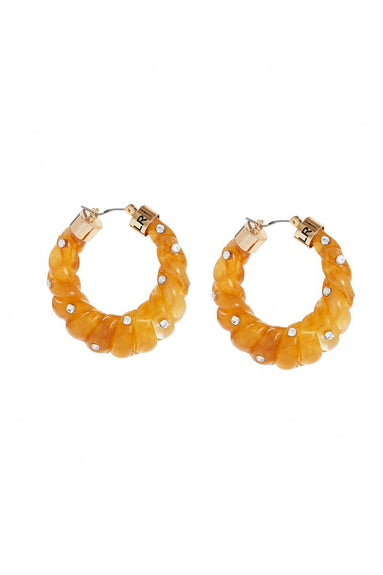 Janis Resin Hoop in Honey/Diamante