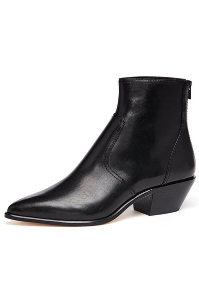 Joni Low Western Bootie in Black