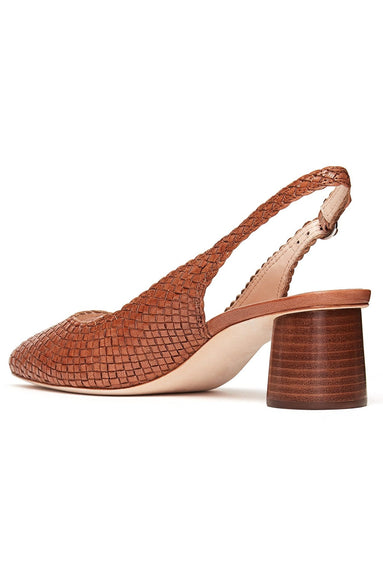 Martine Woven Slingback Pump in Timber Brown