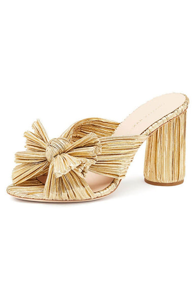 Penny Knot Mule in Gold