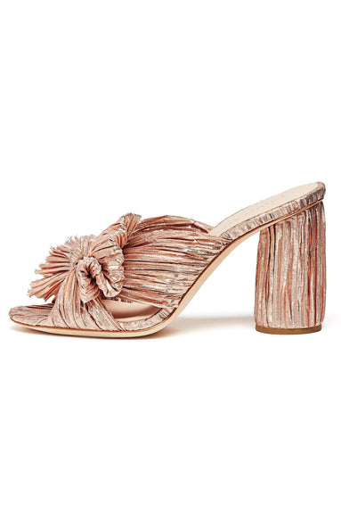 Penny Knot Mule in Rose Gold