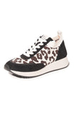 Remi Lace Up Sneaker in Leopard/Black