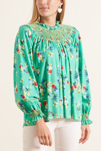 Maria Top in Tropical Green