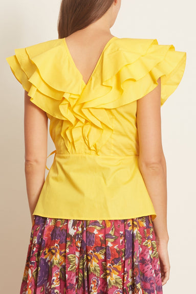 Sibilla Top in Solid Yellow