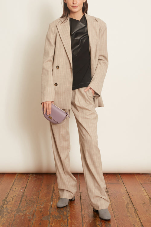 Moretta Pants in Beige Stripes