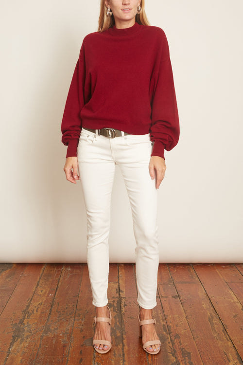 Porri Cashmere Sweater in Bordeaux