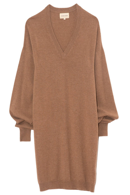 Gambier Sweater Dress in Safari