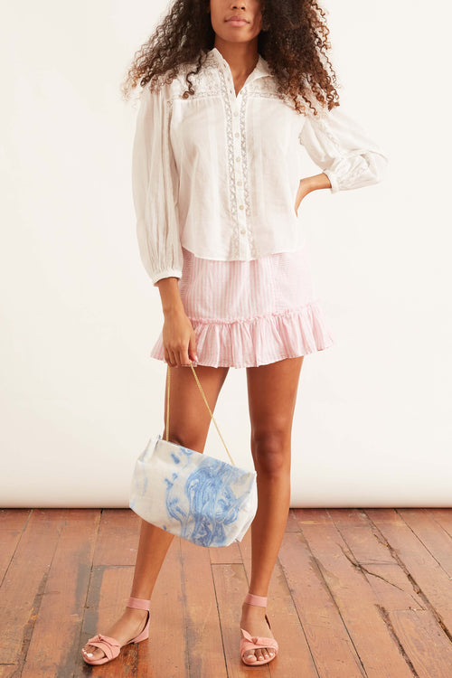 Geanie Skirt in Pink Papershell