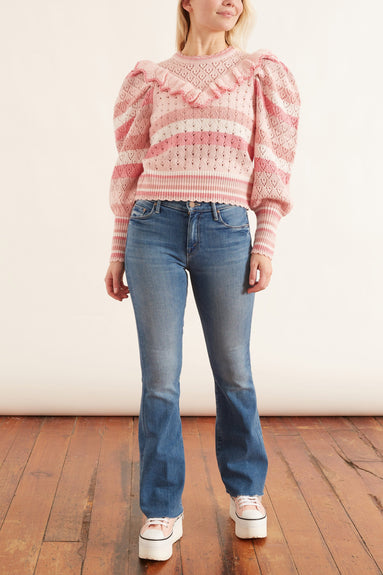 Jameela Pullover in Rose Water Swirl