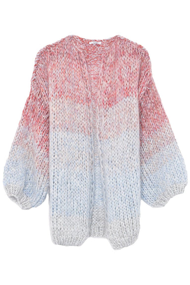 Mohair Big Cardigan in Soft Multicolor