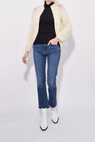 Mohair Small Cardigan in Creme