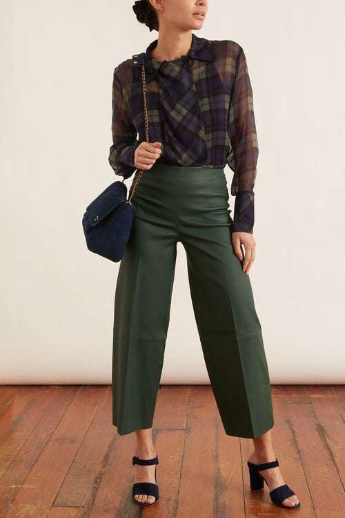 Clivia Pant in Forest Green