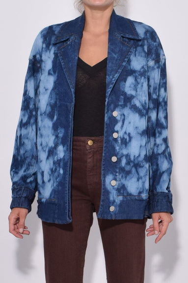Acid Test Denim Bomber in Blue