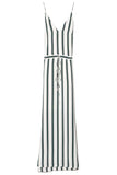 Elemental Stripe Dress in Green/Black/White