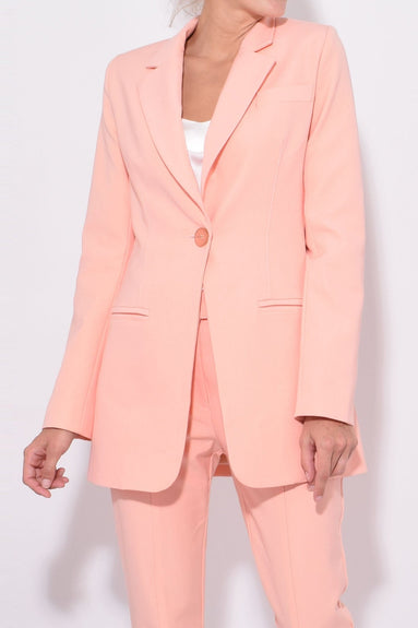 Pop Swagger Blazer in Peach