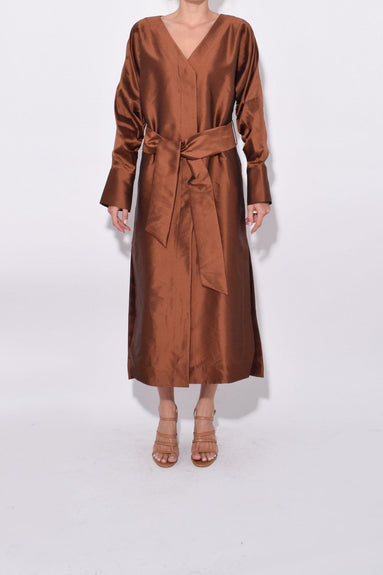 Pumped Up Maxi Dress in Chestnut