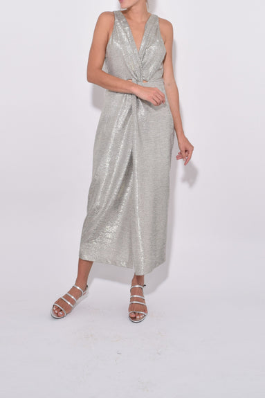Screen Queen Dress in Silver