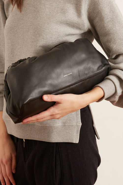 Cloud Clutch in Black/Flamma