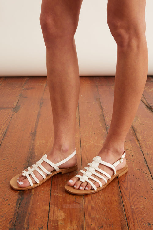 Strappy Sandal in White