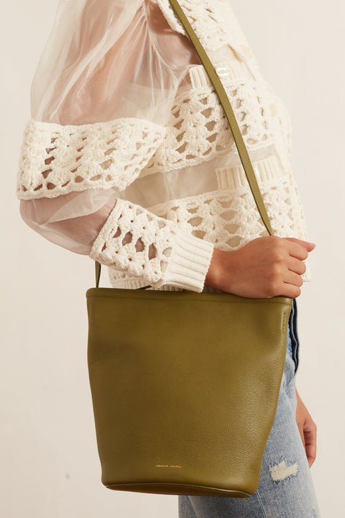 Zip Bucket Bag in Prato