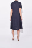 Back Tuck Shirt Dress in Blue