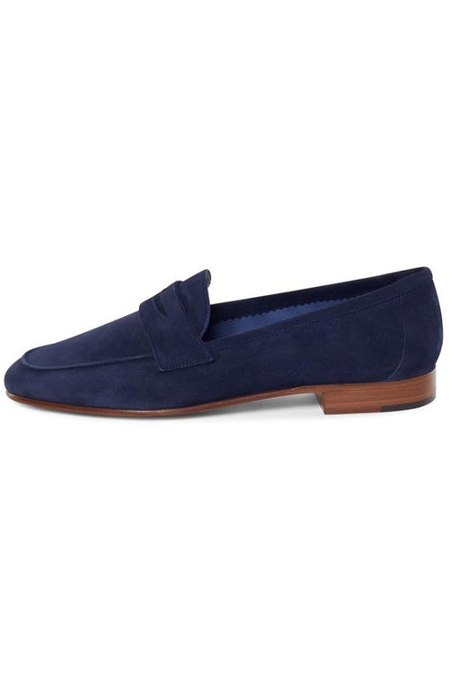 Classic Suede Loafer in Blu