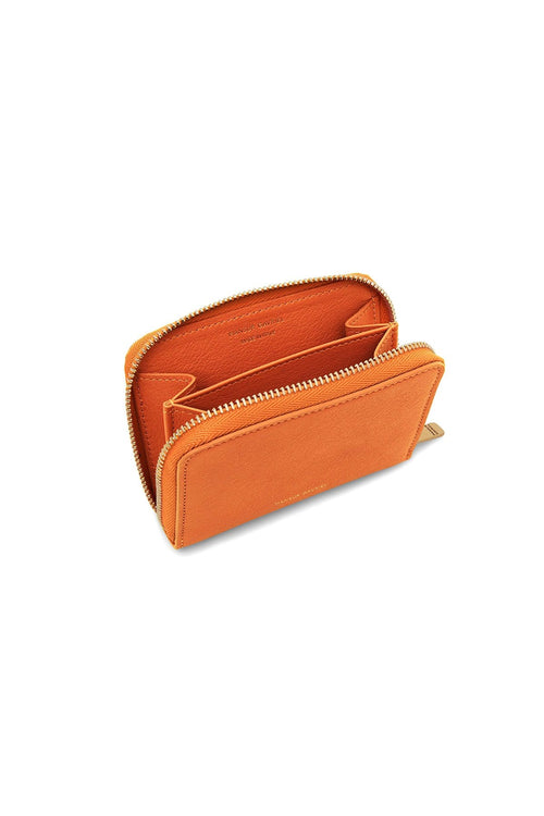 Compact Zip Case in Arancio