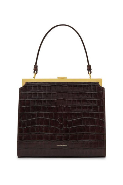 Croc Embossed Leather Elegant Bag in Classic